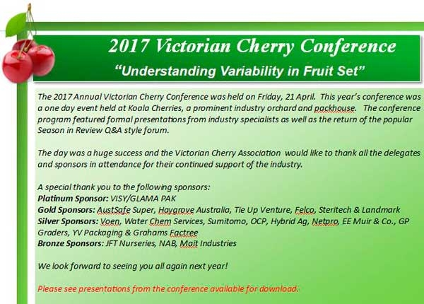 2017 Victorian Cherry Conference