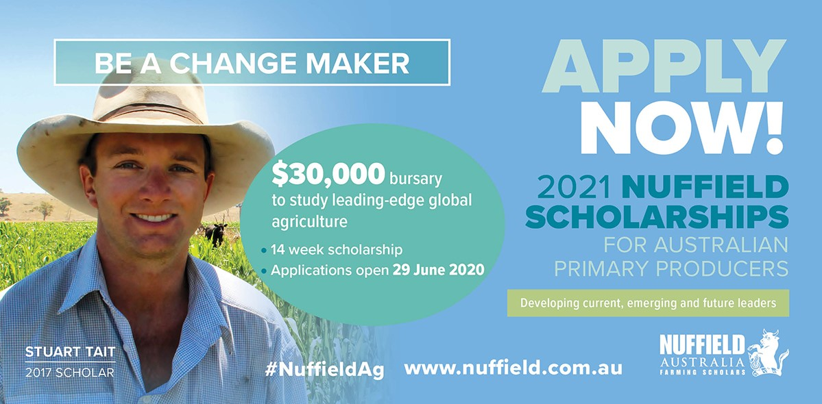 Nuffield Australia Farming Scholorships header