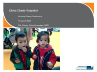 Phil Webley: China cherry overview and market access