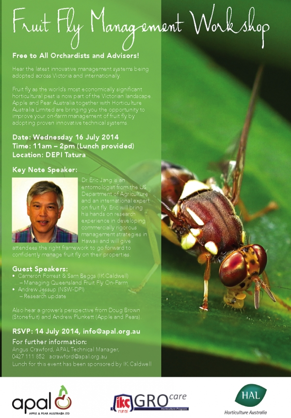 FRUIT FLY WORKSHOP - 16 July 2014